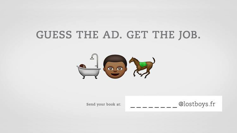 Guess the ad , get the job