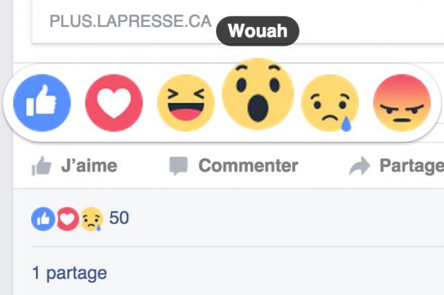 Nouvelles réactions Facebook