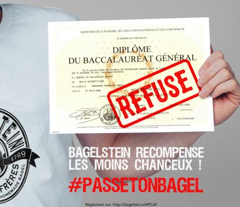 Recalé au BAC ? Bagelstein t'offre un job !